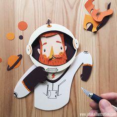 Astronauta papel
