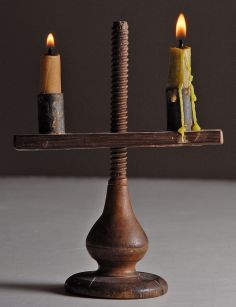 Wow!  A bit pricy.  Oh boy C1750-1800 djustable candleholder.