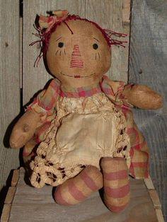 primitive doll patterns | primitive dolls / Raggedy Annie Ann folkart primitive doll pattern