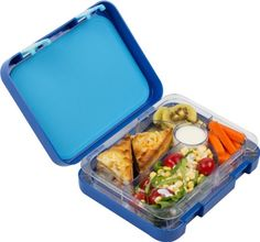 Amazon.com: Snug Kids Bento Lunch Box with Leak Proof Liquid Section for Children and Adults (Blue): Kitchen & Dining