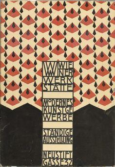 HOFFMANN, Josef. Cartel para exposición del Wiener Werkstätte,1905