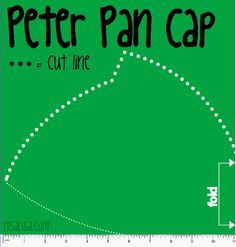 Peter Pan Hat pattern for Peter Pan Halloween Costume. easy Felt craft DIY. itsaLisa.com