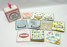 Stamp & Create With Sabrina: Two More 3 x 3 Boxed Gift Card Sets - Using Up Your Scraps