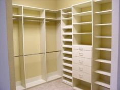Closet Organization Ideas. I think this is what I need if I go with the expanded closet idea.