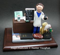 Gift for a Rural Family Doctor where else can you get any kind of medical specialist a made to order figurine??!! These gifts are perfect for graduations, retirements, birthdays, anniversaries, .. or to give thanks to the individual who saved your life etc...Any professions or hobbies can easily be incorporated into a personalized cake topper for you.... 1-800-231-9814 or visit us at www.magicmud.com… Doctor Gifts, The Ultimate Gift, Family Doctors, Sports Medicine, Give Thanks, Caricature, Save Yourself, Retirement, Clinic