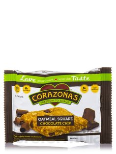 Oatmeal Squares Chocolate Chip 1.76 oz by Corazonas
