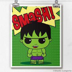 Hulk Smash Limited Edition Print by StudioLongoria on Etsy, $10.00
