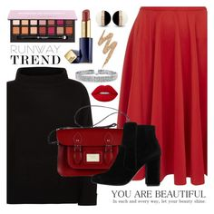 Designer Clothes, Shoes & Bags for Women Office Outfits, Chic Outfits, Fashion Outfits, Fashion Sets, Polyvore App, Blazer With Jeans, Shades Of Red, Mode Style, Polyvore Fashion