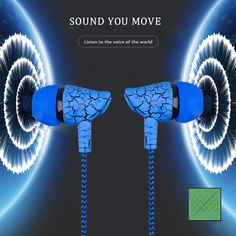 Sport Earphone Wired Headphones Super Bass Crack Earphone Earbud with Microphone Hands Free Headset for Samsung Mobiles, Headset, Bass, Computers, Bluetooth, Headphones, Samsung, Led, Free Shipping