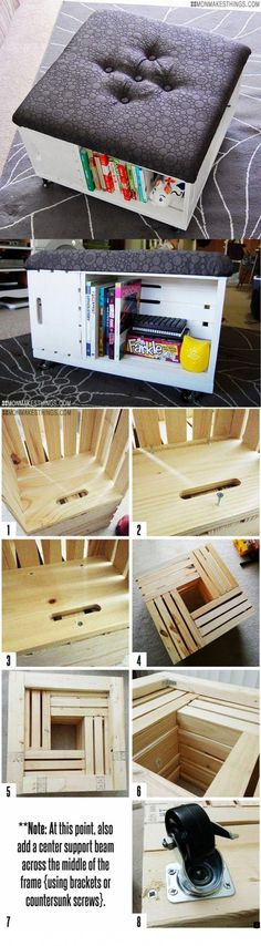 Creative and Easy DIY Furniture Hacks &; For Creative Juice Creative and Easy DIY Furniture Hacks &; For Creative Juice Simone Pendic simonependic Ikea Hacks usw. DIY Ottoman with […] Homes For Families diy projects Easy Home Decor, Handmade Home Decor, Cheap Home Decor, Easy Diy Crafts, Decor Crafts, Diy Room Decor, Fun Diy, Room Crafts, Room Decorations