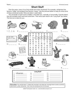 Here's a brainteaser and vocabulary builder worksheet for curious kiddos. A great language arts page for early finishers or free time. English Language, Language Arts, Vocabulary Builder, Vocabulary Worksheets, Brain Teasers, Art Pages, Mailbox, Lesson Plans, Notes