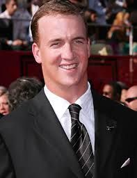 Peyton W. Manning, Professional Athlete, (NFL QB), Future Hall of Famer, MVP, All-American, All-Pro, All-Rookie, Pro-Bowler, SuperBowl Champion, ESPY Award Winner, Sportsman of the Year, Player of the Year, Man of the Year, Comeback Player of the Year, Player of the Decade Awards