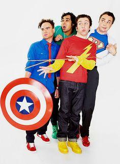 The Big Bang Theory Guys <3  Johnny Galecki, Simon Helberg, Kunal Nayyar, & Jim Parsons