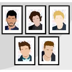 ONE DIRECTION 1D - Mini Poster set of 5 - Harry Styles, Zayn Mailk,... (22 AUD) ❤ liked on Polyvore featuring home, home decor, one direction, 1d, pictures, images, phrase, quotes, saying and text