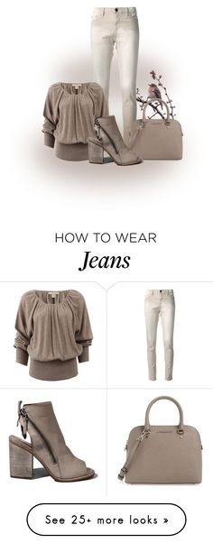 """""""Skinny Jeans With Peasant Top"""" by malathik on Polyvore featuring Each X Other, Michael Kors, MICHAEL Michael Kors and Abercrombie & Fitch"""