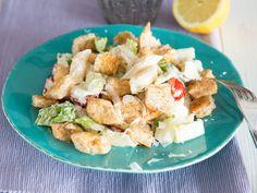 Caesar-Nudelsalat mit Hähnchen