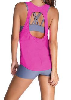 Rose Top and Grey Shorts Swimwear Set on sale only US$24.77 now, buy cheap Rose Top and Grey Shorts Swimwear Set at lulugal.com