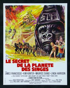 Beneath the Planet of the Apes (1970). French poster.