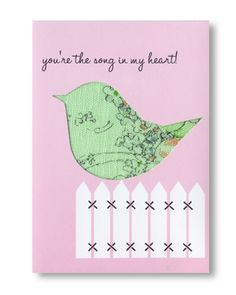 "With fabric or paper, this little ""on the fence"" bird is sweet...and I even own this punch!"
