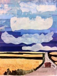 Middle school, landscape collage