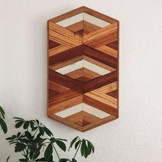 Hexagon 002   Reclaimed Wood Wall Art   Geometric Wall Art   Home Decor   Woodworking   Boho Style Wall Art   Lath Art   Lath Woodworking