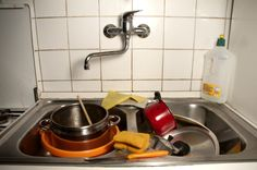 Don't put dirty dishes in the sink. | 37 Hacks To Make Dish WashingEasier