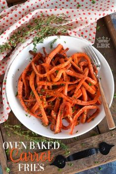 Oven Baked Carrot Fries - Lord Byron's Kitchen