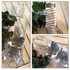 Grey Goose Vodka Bottle Dish Spoon Rest Melted Slumped Molded Bottle Serving Candy Dish Alcohol Christmas  on Etsy, $30.00