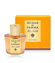 Italian fragrance maker Acqua di Parma is celebrating the anniversary of the Iris Nobile with a special edition Iris Nobile Eau de Parfum, Perfume And Cologne, Perfume Bottles, 10 Anniversary, Luxury Gifts, Beauty Trends, Harrods, Iris, Miniature, Classic