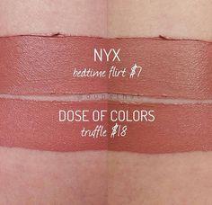 NYX Lingerie Bedtime Flirt vs Dose of Colors Truffle