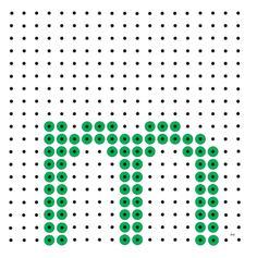 Kralenplank - letter m