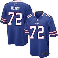 Nike Limited NFL Jersey Blue Youth Kellen Heard Jersey Buffalo Bills #72 Jersey Sale