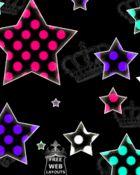 Free polka dot neon stars.gif phone wallpaper by shawtylow