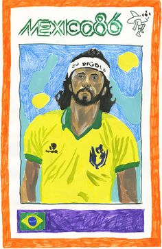 Adrian Mangel's one-of-a-kind portraits of the world's most famous footballers.