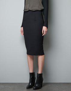 HIGH WAIST PENCIL SKIRT - Skirts - Woman - ZARA United States