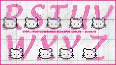 Ponto Cruz e Mais: Monogramas da Hello Kitty - Feitos Por Nós