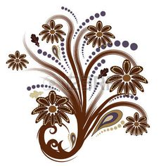 beautiful autumn abstract vector floral design Stock Photo - 1404886