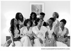 Bridesmaids Getting Ready | Joseph+Chika's Traditional Catholic Wedding at the Marriott Downtown in Greensboro, NC | Greensboro Wedding Photographer | Nigerian Wedding | ©2014 Glessner Photography