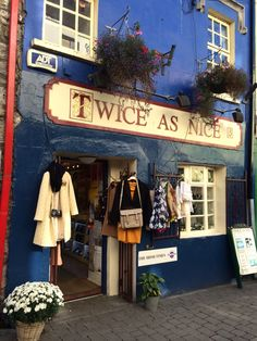 Beautiful shop fronts in the city of Galway, Ireland. Visit Galway on many CIE escorted coach tours of Ireland. www.cietours.com #coachtour #escortedtour