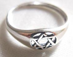 Star of David 925 sterling silver ring ,  judaica silver ring , magen david ring ,