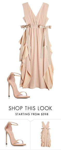 """""""layered dress"""" by traceyevelyn on Polyvore featuring Stuart Weitzman and Fendi"""