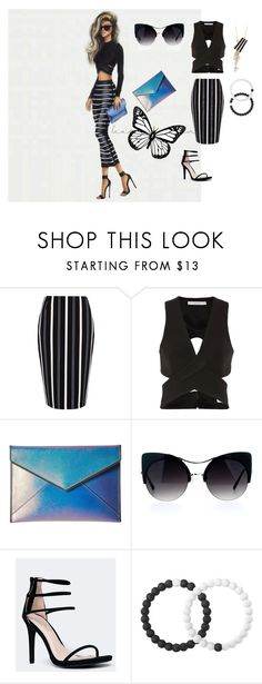 """""""Stripes(print)summer contest"""" by aspinall-moira ❤ liked on Polyvore featuring River Island, Dion Lee, Rebecca Minkoff, Anne Michelle and Lokai"""
