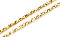 Retiazka dámska zo žltého 14 karátového zlata