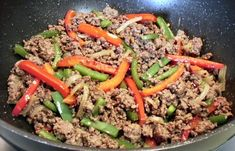 SPICY PEPPER BEEF SKILLET DINNER - Linda's Low Carb Menus & Recipes