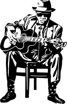 Blues Guitarist Cross Stitch Chart by on Etsy Music Drawings, Music Artwork, Art Music, Colorful Pictures, Art Pictures, Musik Illustration, John Lee Hooker, Jazz Art, Delta Blues