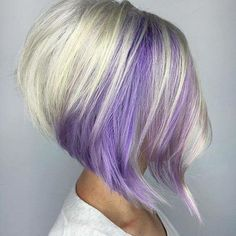 Purple blond long bob