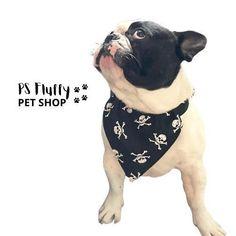 Slip on dog Bandana ☠️ Big Dogs, Large Dogs, Small Dogs, Bandana Print, Dog Bandana, Big Dog Breeds, Neck Accessories, Puppies Tips, Skull Fashion