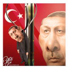 Bart van Leeuwen (2016-07-16) Turquie: Military Coup.  ErdoFake. In response to the 'coup attempt' in Turkey. Pictured: Erdogan at fun fair