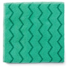 """Rubbermaid Commercial RCPQ620 Reusable Cleaning Cloths Microfiber 16"""" x 16"""" Gree Green Janitorial Supplies Cleaning Supplies Cloths"""