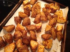 Found this recipe on the Weight Watchers website.  It is a core recipe but can become flex by counting the points.  I think these potatoes have a lot of flavor and are a great side dish.  Even kids and husbands will enjoy!  Its easy too!  I also double the ingredients and use 6-8 potatoes to get a good amount out of this.